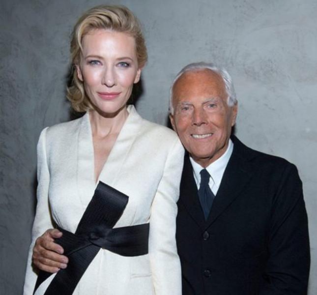 Giorgio Armani con Cate Blanchett