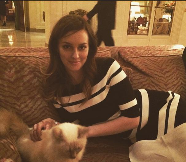 Leighton Meester col suo gatto