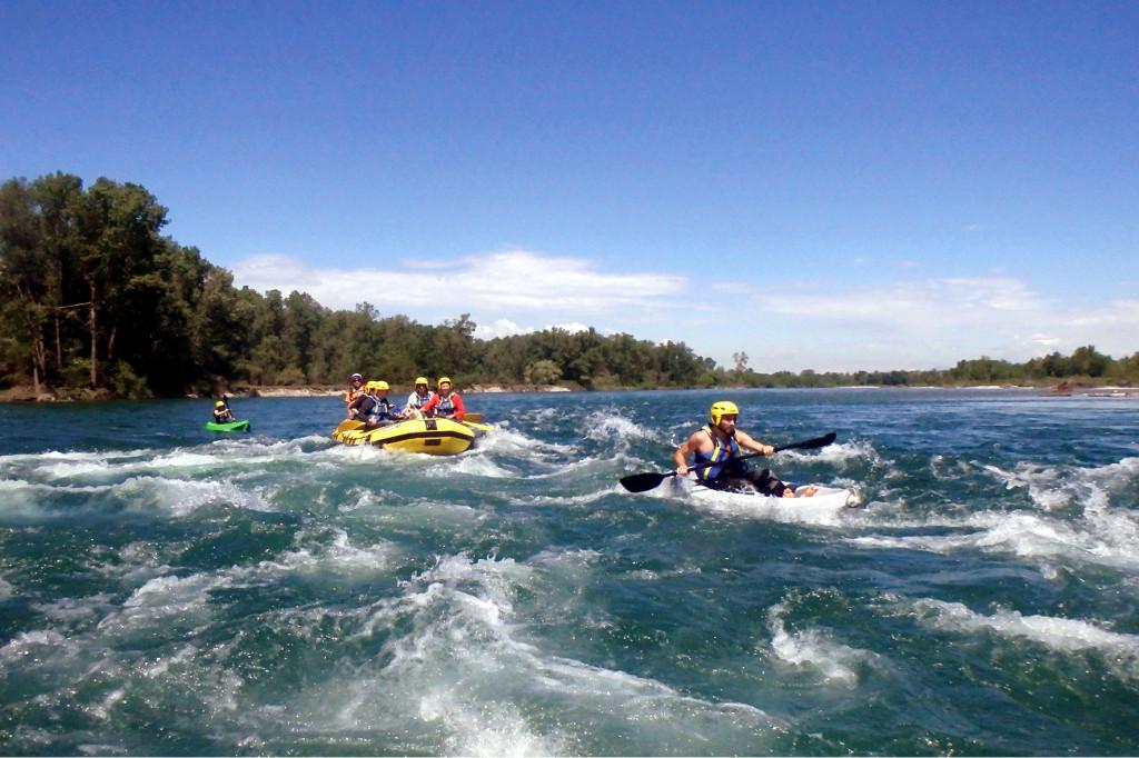 Fare rafting Parco Ticino
