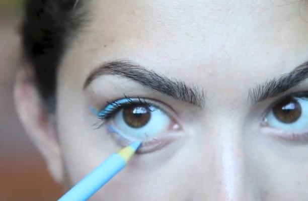 . I pastelli potrebbero irritare l'occhio e l'infezione potrebbe anche diffondersi nella cornea compromettendo così la vista se non curata a dovere