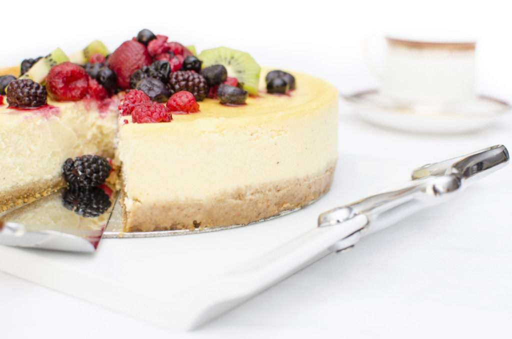 Cheesecake fredda ai frutti di bosco