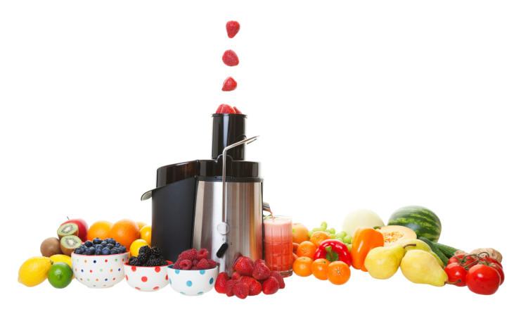 Estrattore verticale con frutta e verdura