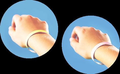 Evita Sun Indicator reagisce all'intensità della radiazione UV cambiando colore