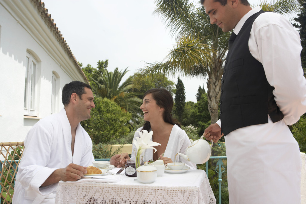 romantica colazione del viaggio di nozze
