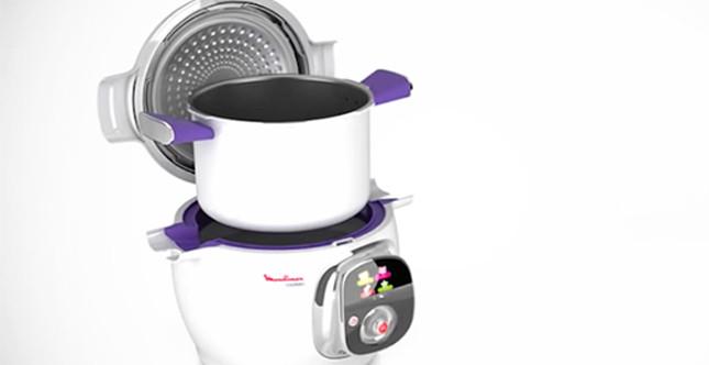 cookeo è capiente e permette di cuocere qualsiasi tipo di pietanza in diverse modalità di cottura, Immagine da: cookeo.moulinex.fr