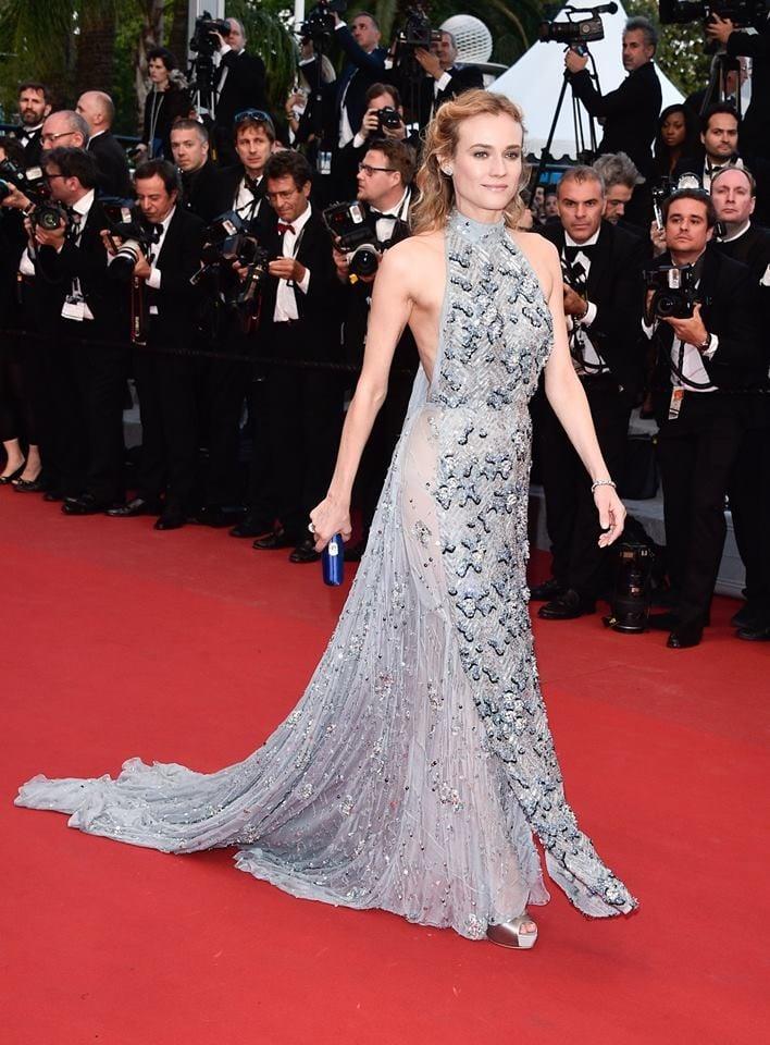 Diane Kruger elegante ma non indimenticabile in Prada