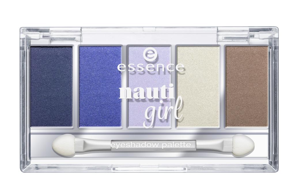 essence nauti girl – palette ombretti occhi Disponibile nella versione: #01 cool breeze Prezzo: 4,89€*.