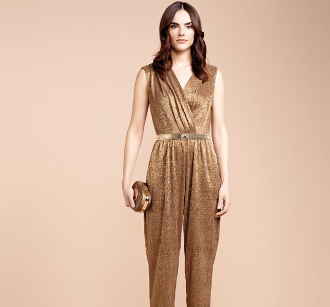 Elisabetta Franchi jumpsuit color bronzo