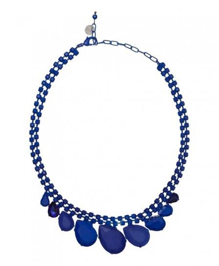Collana con pietre blu Max&co