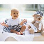 Dolce bebè pagliaccetto a righe