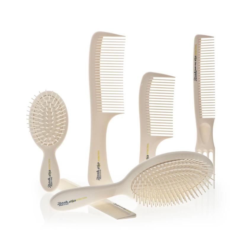 spazzole e pettini janeke realizzate in legno per tenere a bada l'elettricità del capello