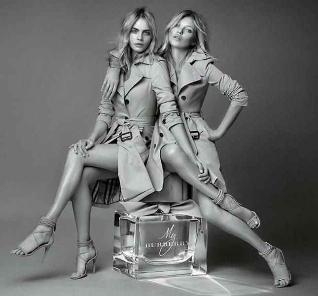 Kate Moss e Cara Delvingne per Burberry