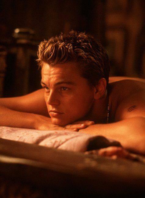 Un giovane di Caprio sul set di The Beach