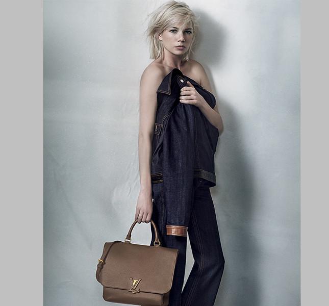 Michelle Williams per Louis Vuitton con la nuova bag Volta Taurillon