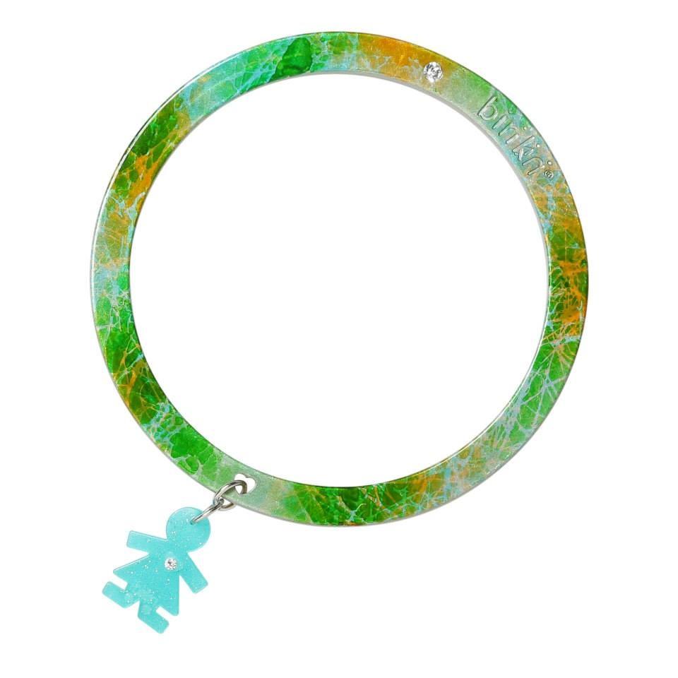 Bracciale linea Passion by Birikini: arcobaleno verde azzurro e giallo