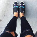 Chiara Ferragni slip on nere con stampa