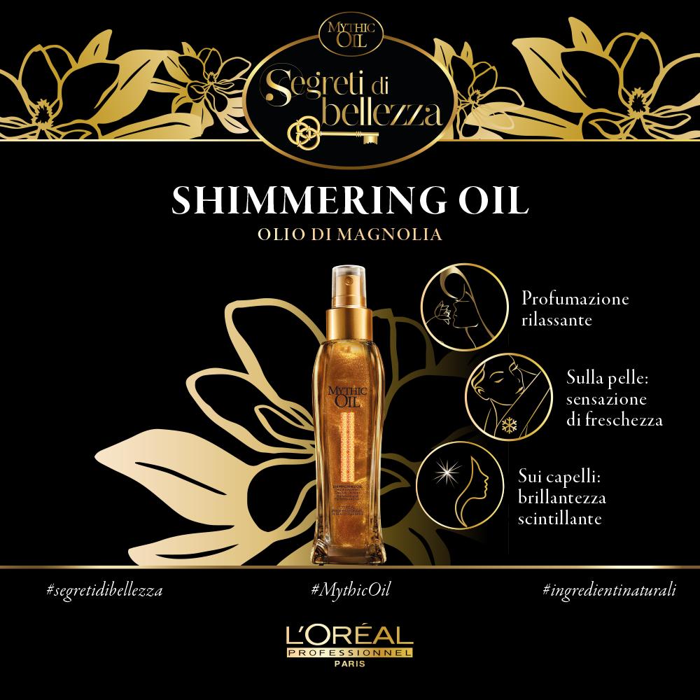 L'Oreal Paris - Shimmering Oil di Mythic Oil con Olio di Magnolia