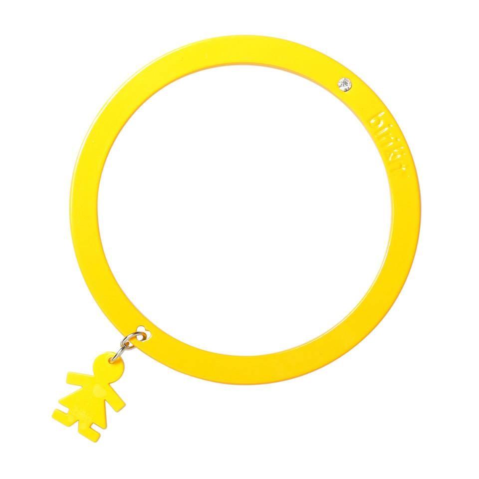Bracciale linea Passion by Birikini: tinta unita giallo
