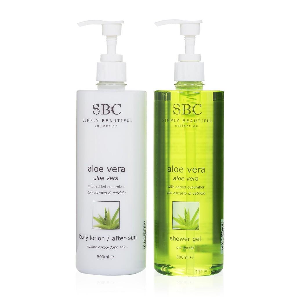SBC Aloe Vera gel doccia + latte corpo rinfrescante-doposole