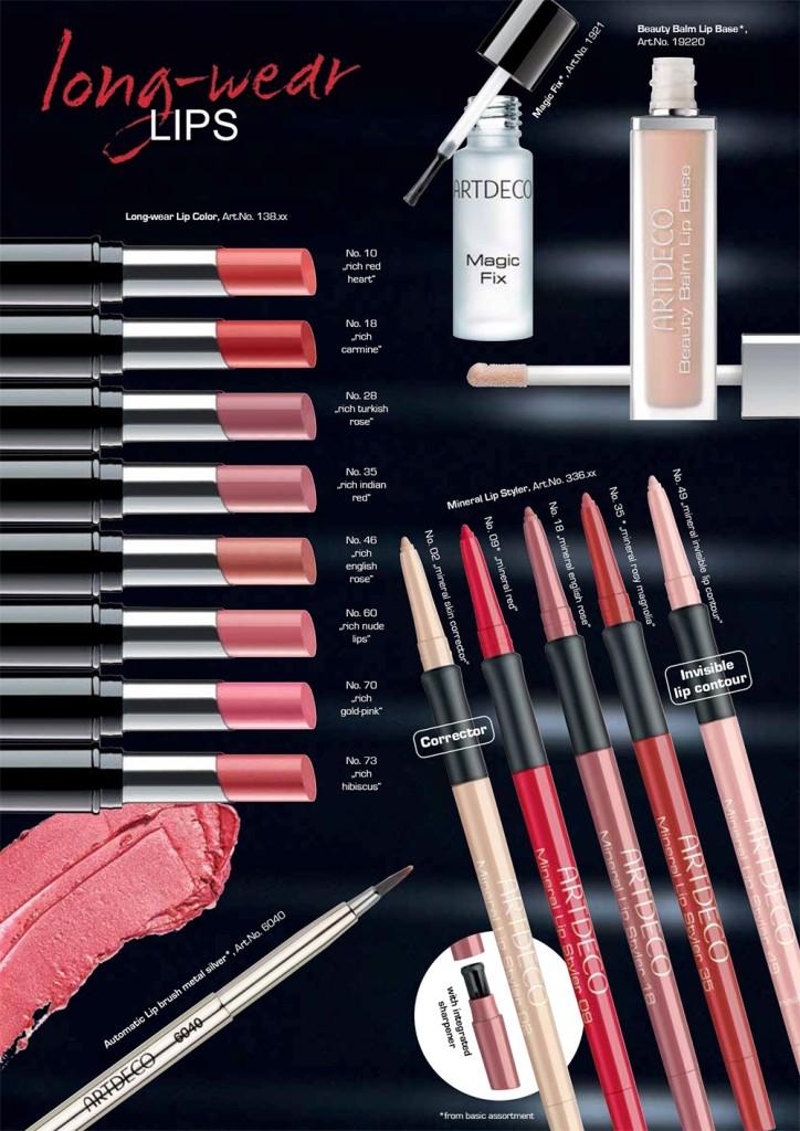 Artdeco: Novità Collezione Labbra Long-Wear Lips