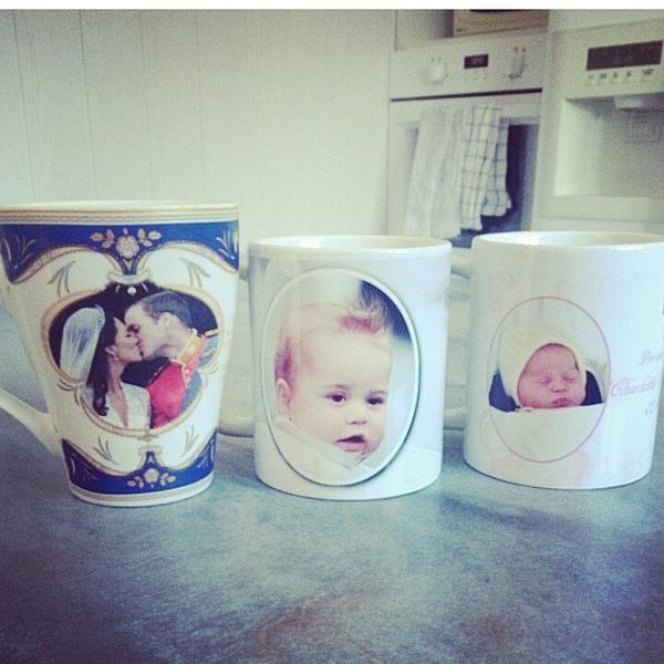 Mug celebrative della famiglia reale