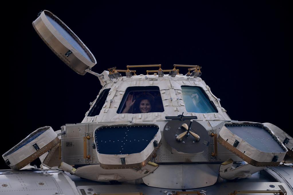 Samantha Cristoforetti - L'ultima foto prima della partenza