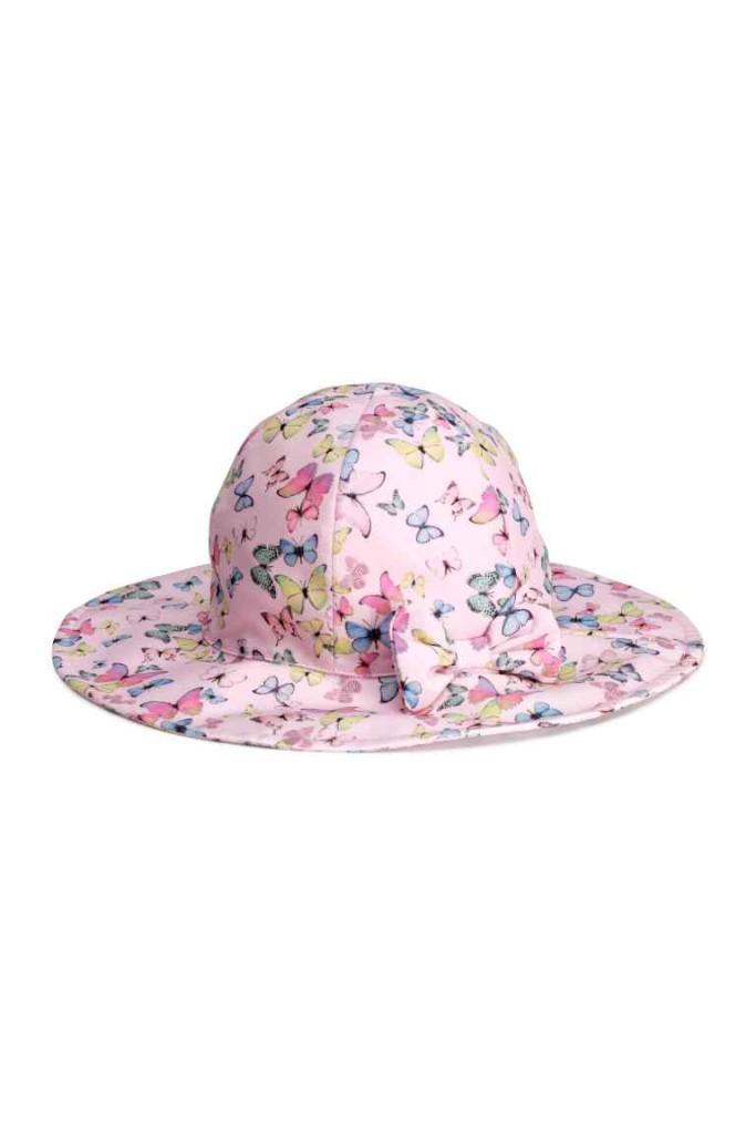 Collezione H&M  Cappello per il rosa con farfalline in cotone
