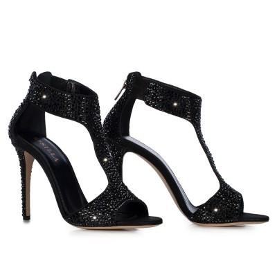Sandali gioiello con strass Le Silla