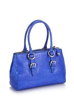 Guess. Jacqueline Cocco Box Satchel Bag. E' la stampa cocco a rendere originale questa classica borsa a cartella con fodera logata.