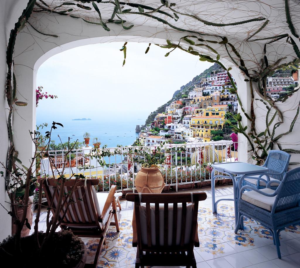 Panorama dal ristorante La Sponda -Hotel Le Sirenuse