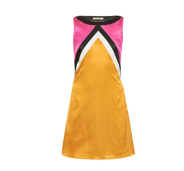 Pennyblack abito in raso di cotone, semiaderente e con intarsi
