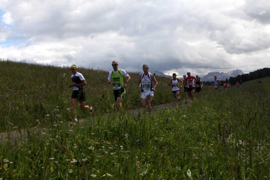 Mezza maratona correre all'Alpe di Siusi