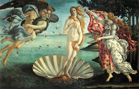 Nella Nascita di Venere di Botticelli la dea ha lunghe chiome naturalmente mosse, che oggi potrebbero essere quelle di Gisele Bundchen
