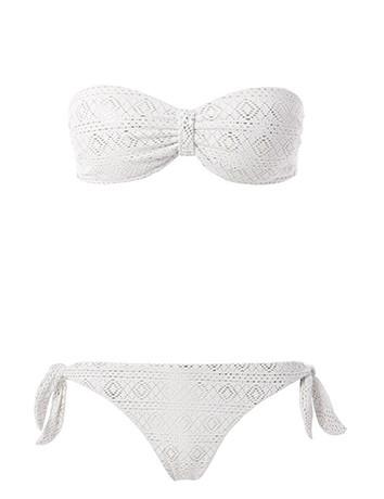 Tezenis, bikini a fascia ne romantico bianco tricot -disponibile in diversi colori