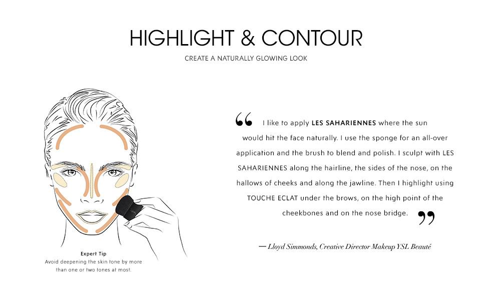 Yves Saint Laurent Le Teint Saharienne Balm-Powder - Esempio di contouring