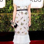 Look con farfalle ai Golden Globes 2015
