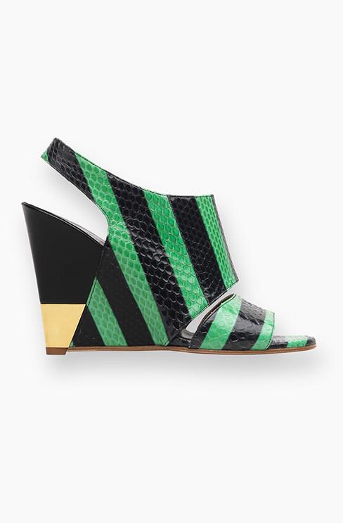 Sandalo con zeppe bicolor Chloé