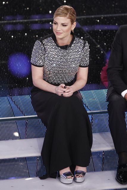 Durante Sanremo 2015 Emma ha sfoggiato più acconciature diverse tra loro