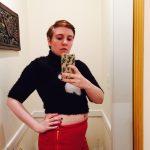 Lena Dunham in un selfie