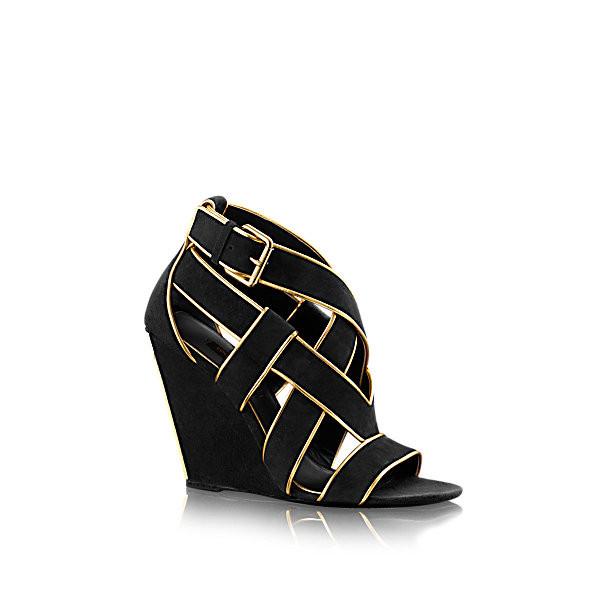 Louis Vuitton sandalo da sera con zeppe