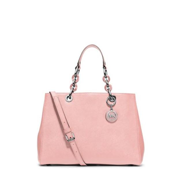 Michael Kors borsa Cynthia rosa e con manico a catena
