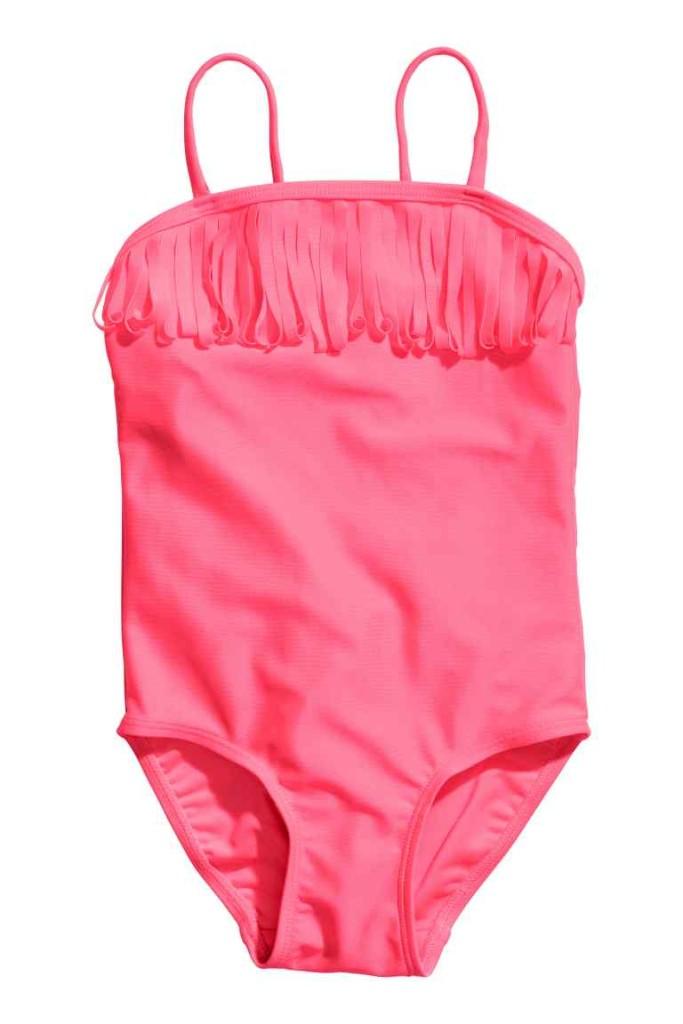 Costume rosa neon con frange H&M