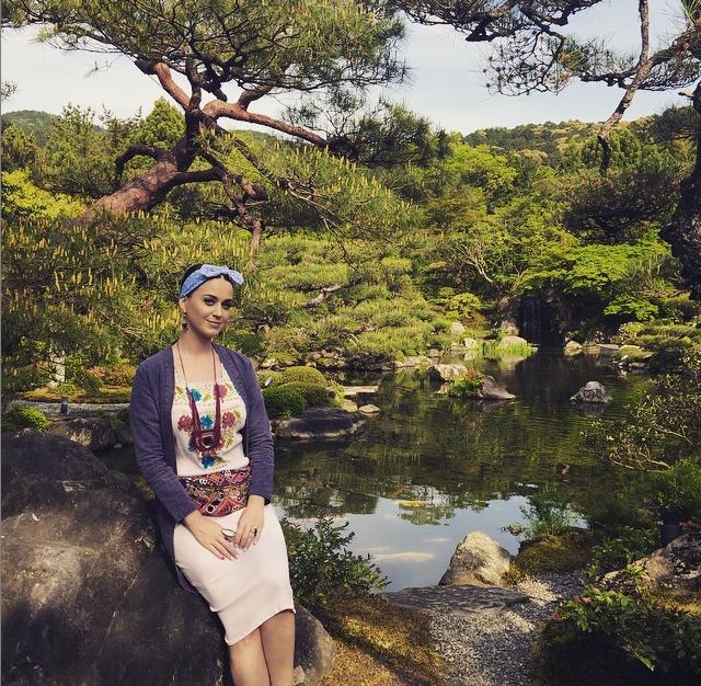 La Perry durante un recente vaiggio in Giappone