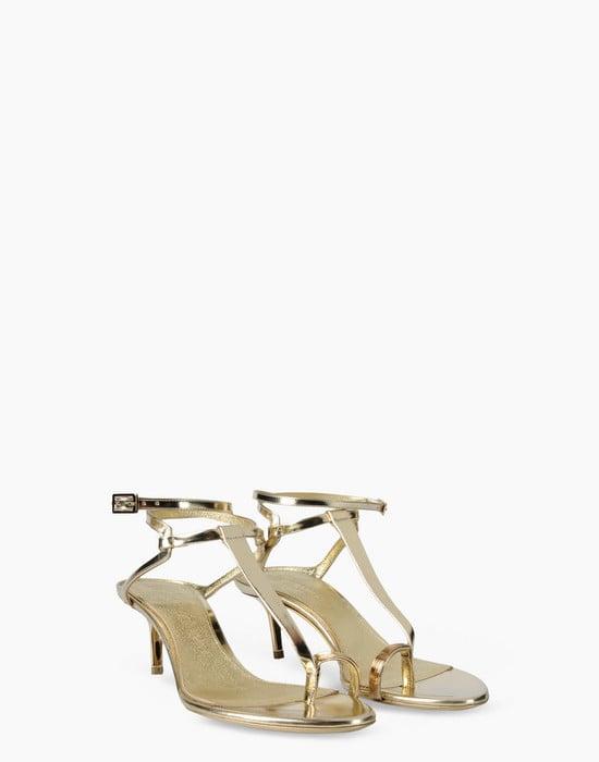 Sandali gioiello dorati Emilio Pucci
