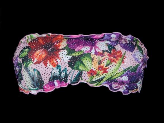 Tezuk bikini top ibiscus viola
