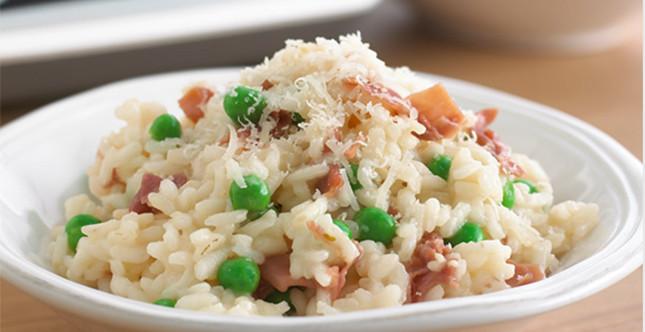 1. ricetta: risotto piselli e prosciutto crudo
