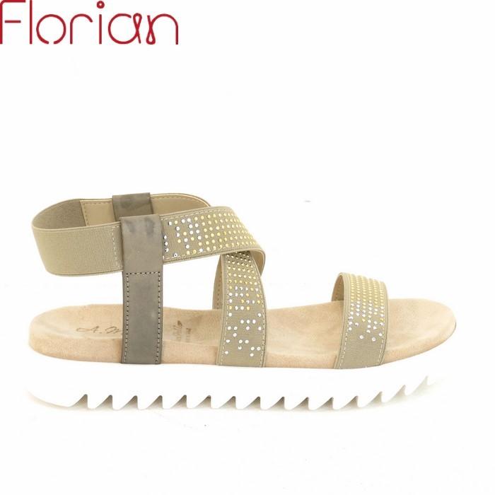 collezione Andrea Morelli sandalo con suola bianca