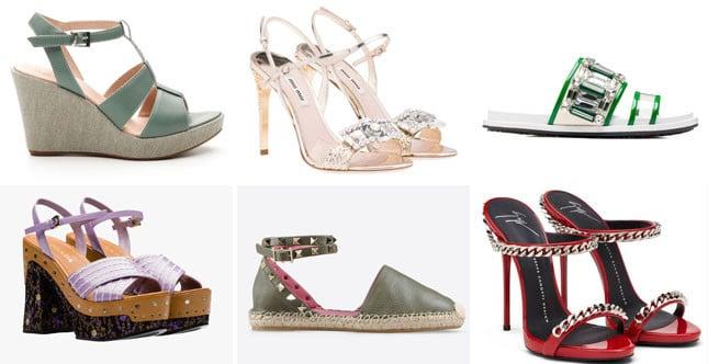 Dai sandali con tacchi alti, alle zeppe, passando per gli zoccoli e fino alle espadrillas: tutte le scarpe di tendenza dell'estate 2015