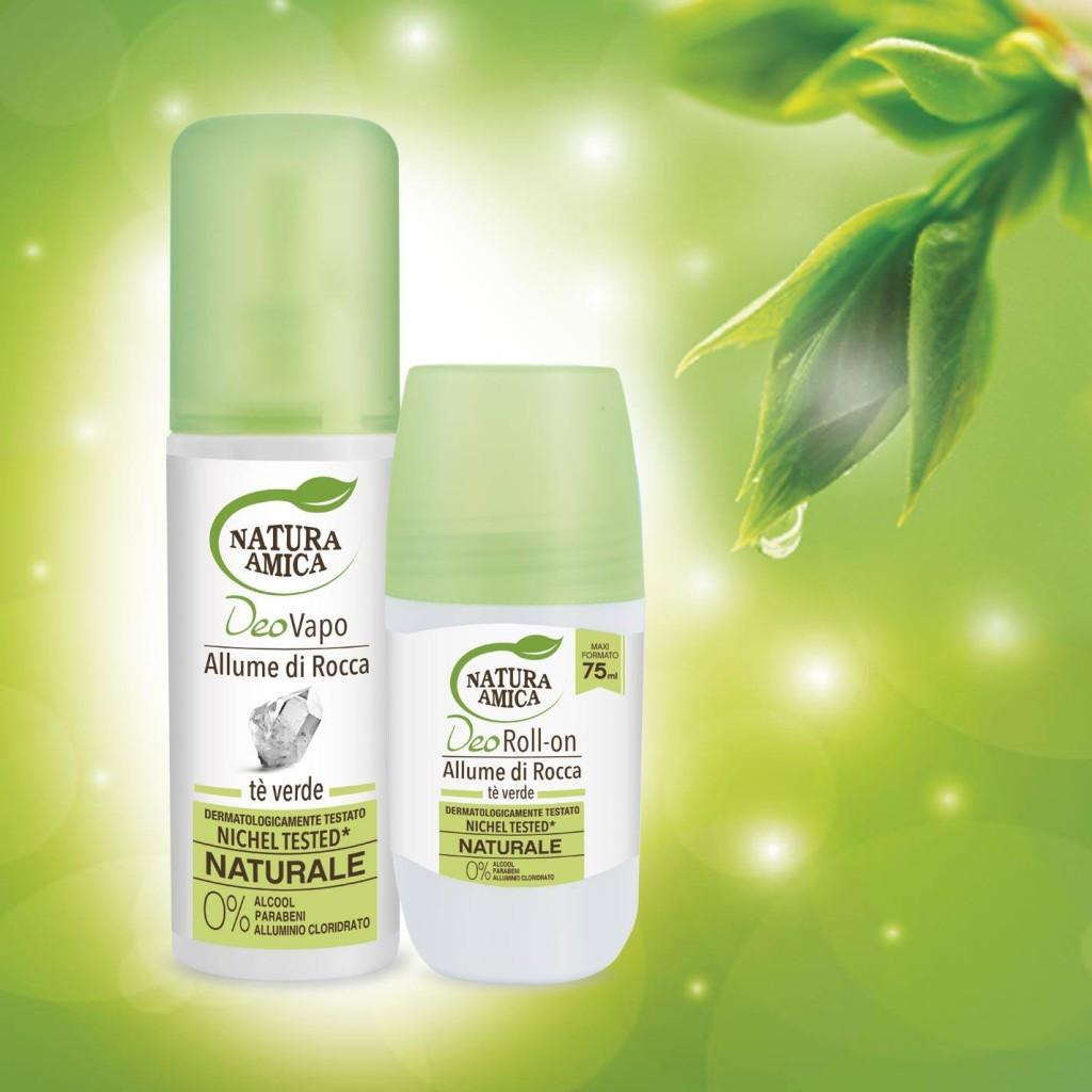 Natura Amica - Deodoranti naturali   - Allume di Rocca e Tè Verde