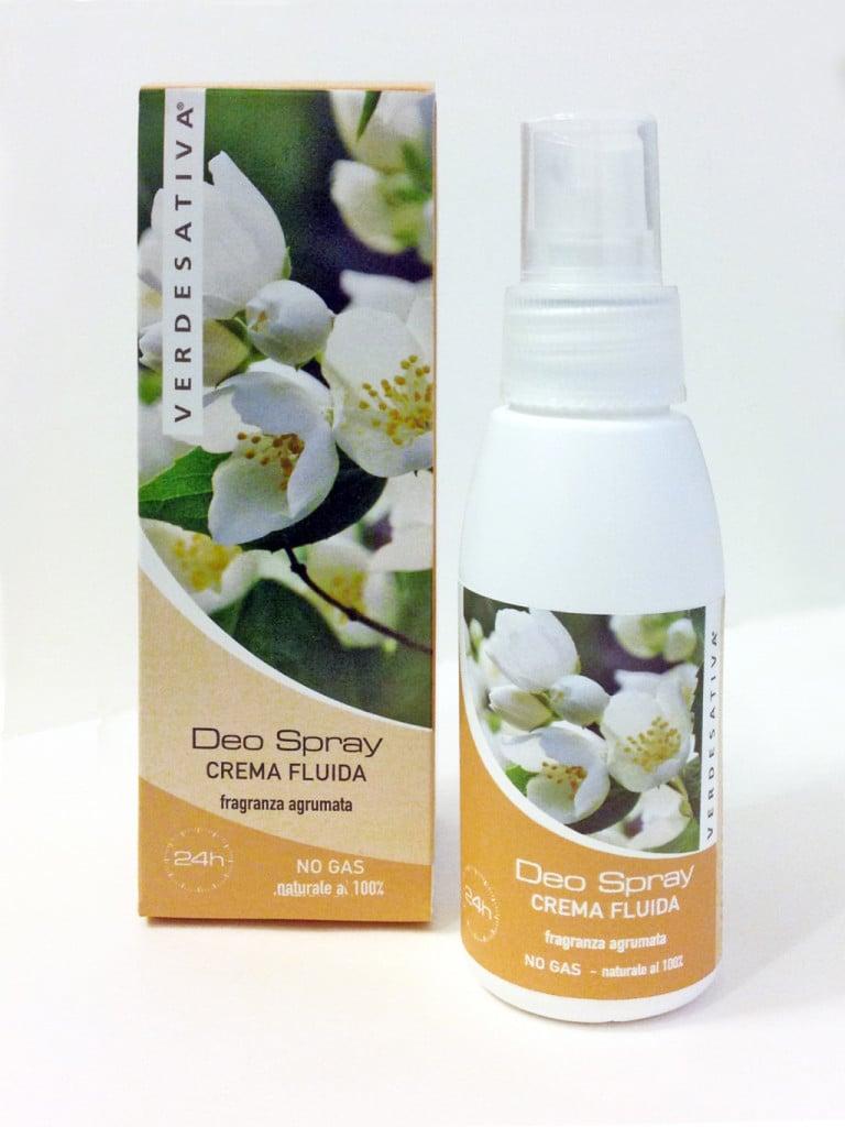 Verdesativa Deodorante naturale Spray emulsione fluida agrumata
